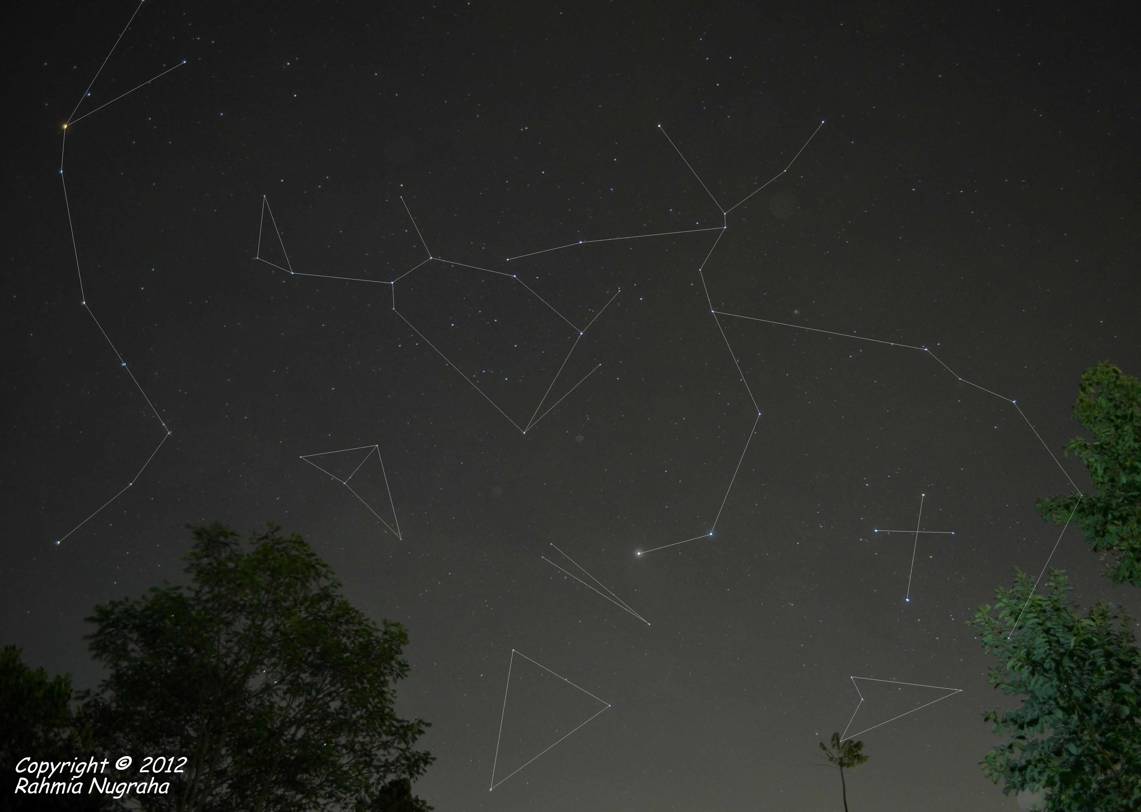 Crux, Centaurus, Lupus, Musca, Circinus, Norma, Triangulum Australis, Scorpio