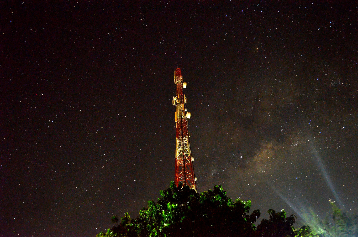 Milky Way Behind the Tower