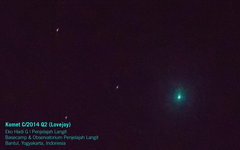 Komet Lovejoy Yogyakarta