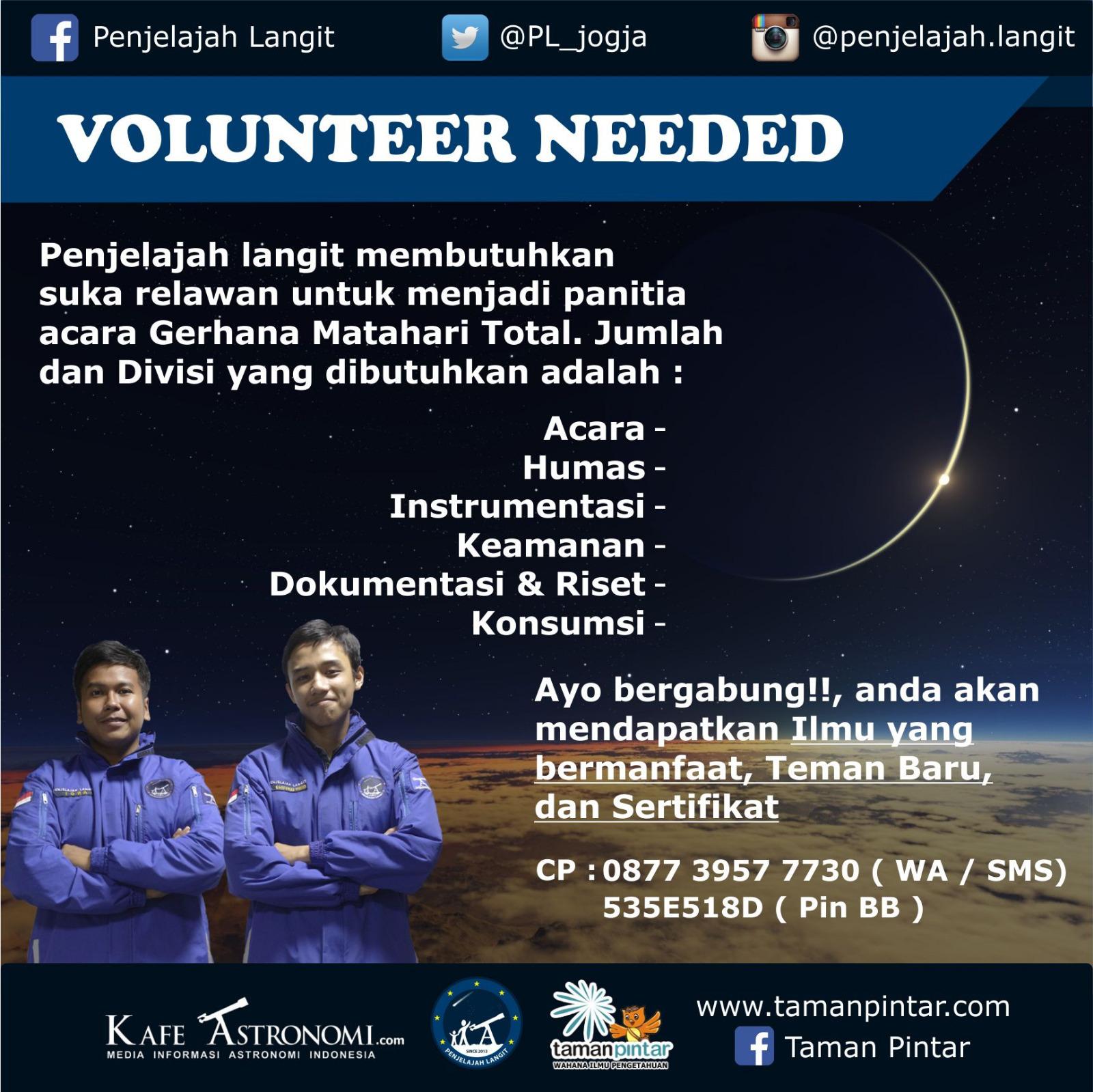 Volunteer Penjelajah Langit