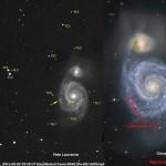 Bintang Meledak di Lengan Galaksi Whirlpool (M51)