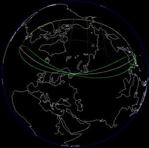 Peta kawasan yang bisa menyaksikan Gerhana Matahari Parsial (Sebagian) 2 Juni 2011, yakni sebagian Asia (sebagian Rusia, sebagian Cina, Jepang, Korea) dan sebagian Amerika Utara (sebagian Canada dan Alaska). gerhana akan diawali pada 2 Juni 2011 pukul 02:25 WIB dan berakhir pada pukul 06:07 WIB. Puncak gerhana berlangsung pukul 04:16 WIB dengan bagian Matahari yang tertutupi cakram Bulan adalah (maksimum) 60%