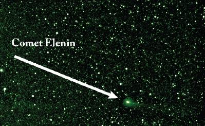 Komet Elenin berdasarkan citra satelit STEREO awal Agustus.