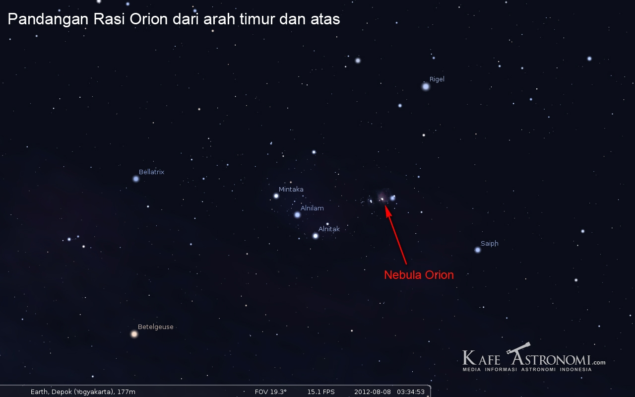 Tiga Bintang Sejajar Di Langit Malam Kafe Astronomi Com