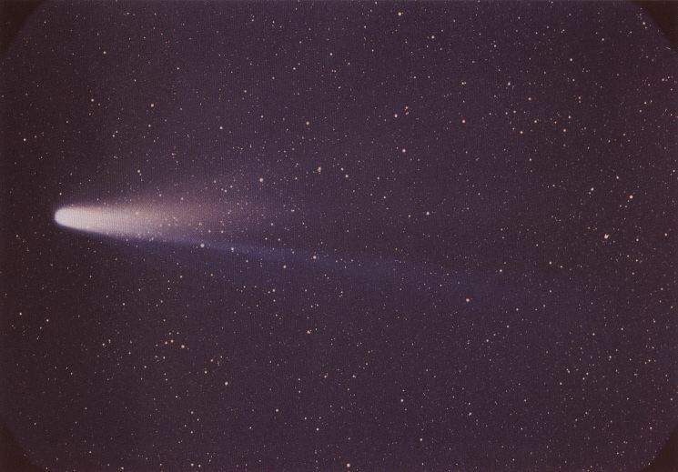 Komet Halley pada tanggal 8 Maret 1986. Credit : NASA