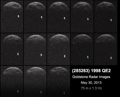 citra radar Asteroid 1998 EQ2 pada 30 mei 2013. Sumber : NASA