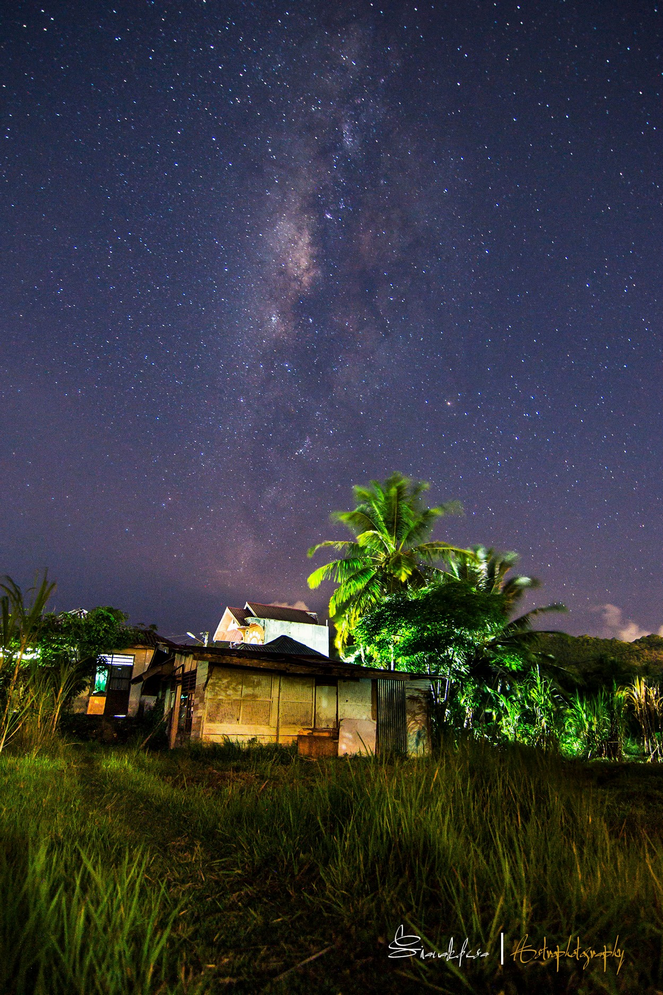 Sianak Desa Milky Way Over My House