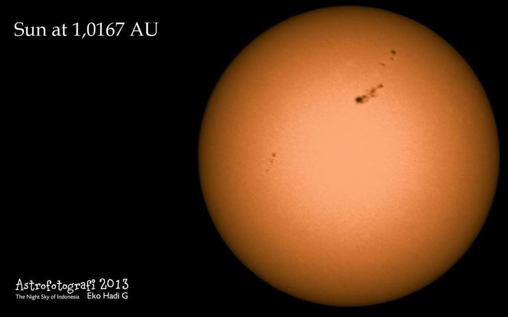 Sun at 1,0167 AU