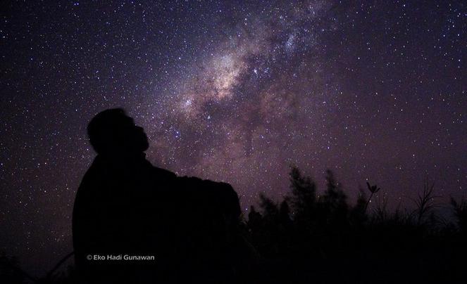 Siluet Langit malam