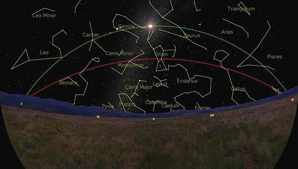 Sudut antara ekuator langit dan Ekliptika pada titik balik matahari musim panas