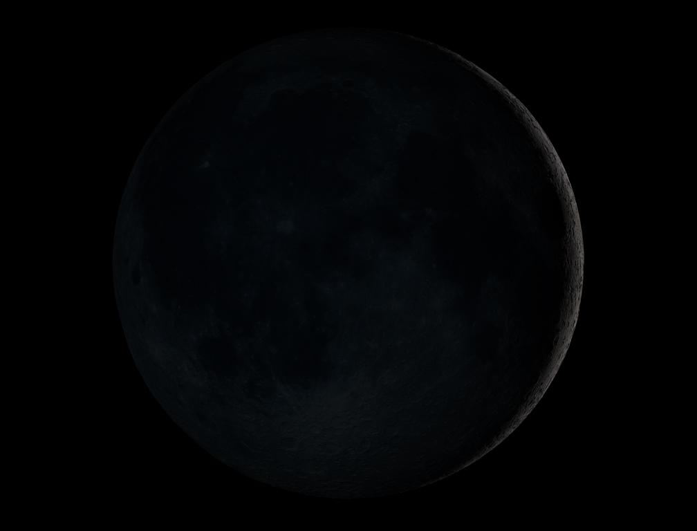 Hilal atau bulan sabit muda yang menandai telah terjadinya  fase bulan baru. Sumber : GSFC NASA.com