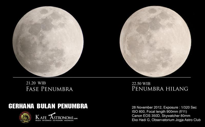 Gerhana Bulan Penumbra 28 November 2012 oleh Eko Hadi G. Sumber : Facebook Eko Hadi G