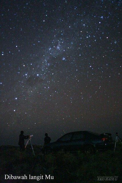 Contoh langit bersih. Sumber : Eko Hadi G 2012.