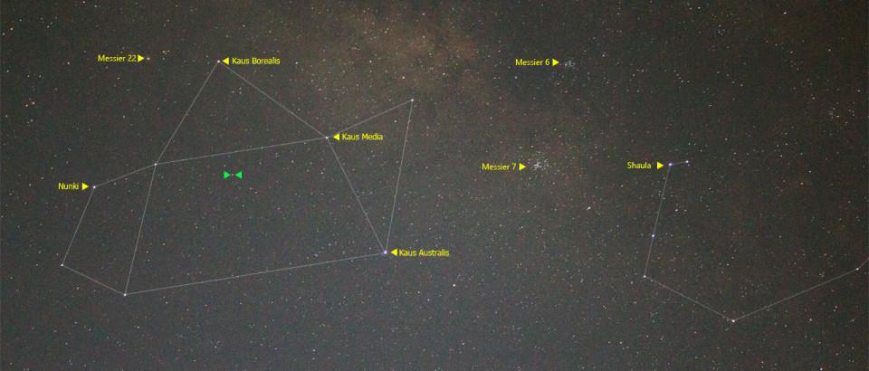 Ledakan Bintang di Rasi Sagittarius