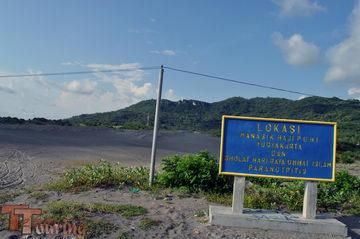 Lokasi Manasik Haji PDHI Yogyakarta dan Sholat Hari Raya Parangtritis yang akan menjadi tempat pengamatan hujan meteor klub astronomi Penjelajah Langit. Sumber : teamtouring.net