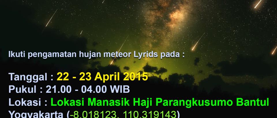 Undangan Pengamatan Hujan Meteor Lyrids 2015