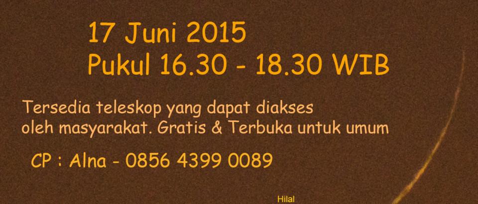 Undangan Pengamatan Hilal 1 Ramadhan