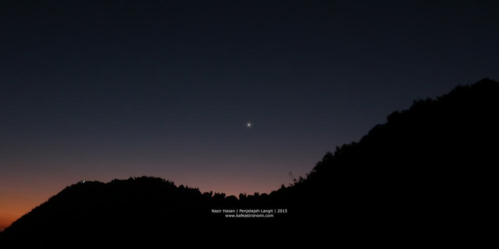 Planet Venus di pagi hari ketika Matahari akan terbit. Kredit : Nazir Hasan 2015