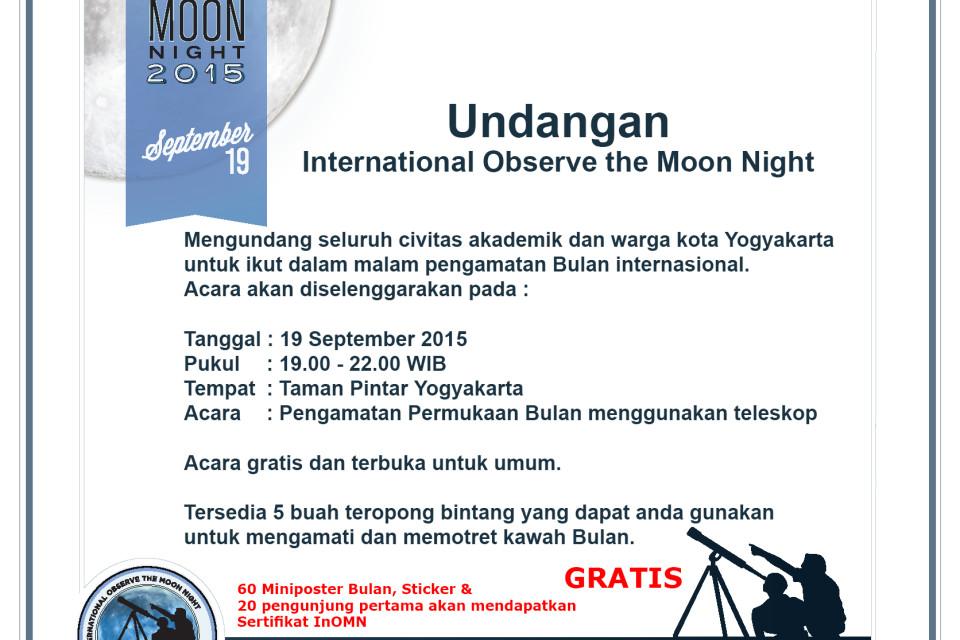 Undangan InOMN 2015 bagi Warga Yogyakarta