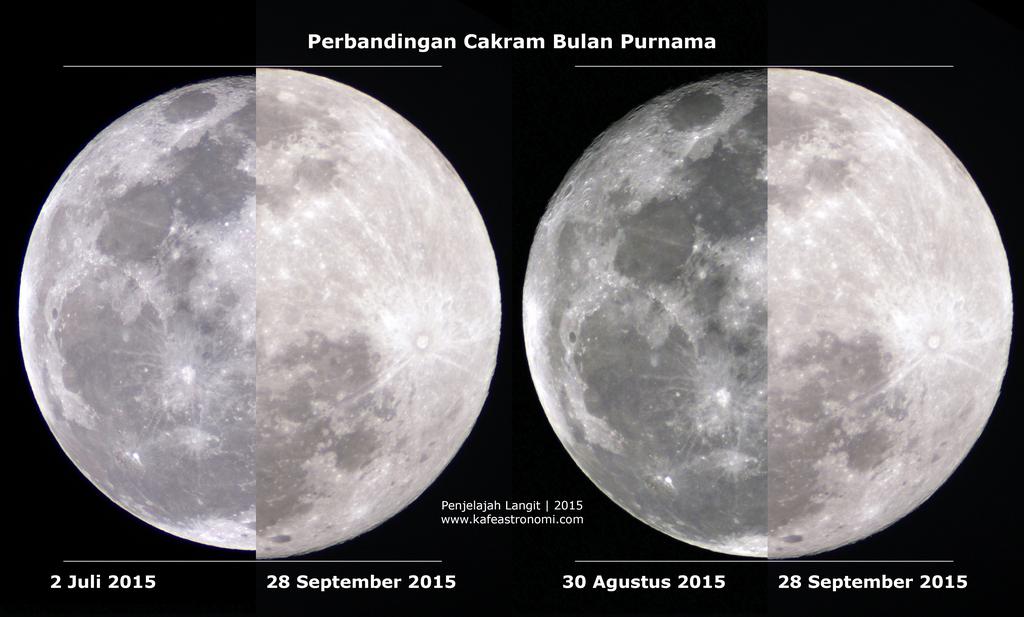 Foto cakram Bulan 28 September pukul 03.44 WIB. Kredit : Penjelajah Langit 2015