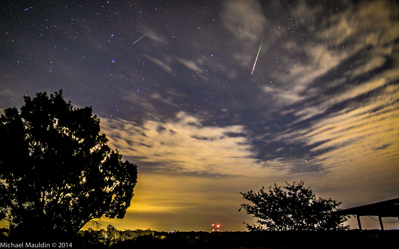 Meteor dari hujan meteor Leonids. Kredit : Michael Mauldin/ReportIt