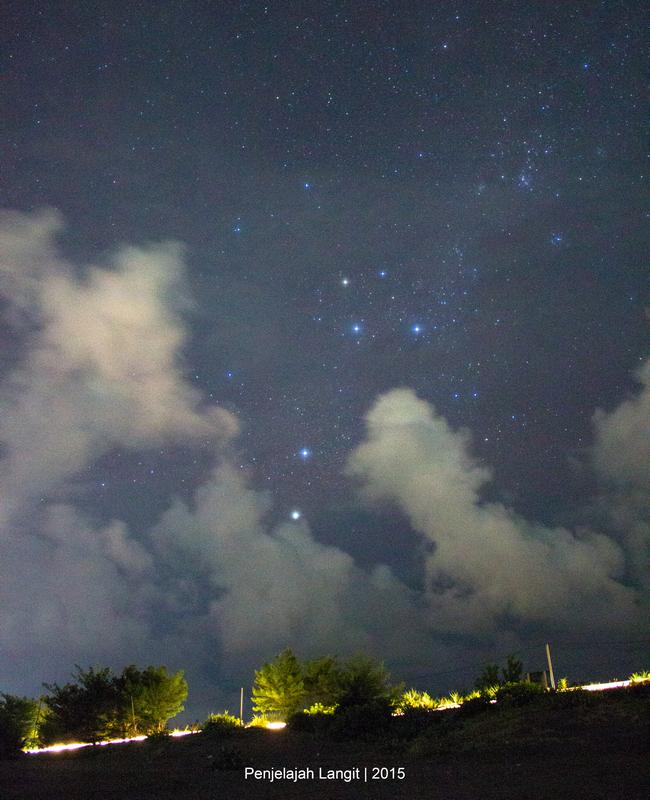 Rasi Crux setelah terbit dan berada di belahan langit selatan. Credit : Eko Hadi G, Penjelajah Langit.