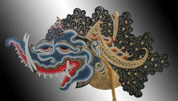 Tokoh Kala Rahu dalam bentuk wayang kulit. Kredit : Faizal N Singgih