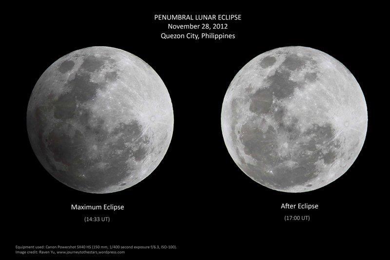 Gerhana Bulan Penumbra yang diabadikan oleh Raven Yu dari Filipina. Kredit : Raven Yu, 2012