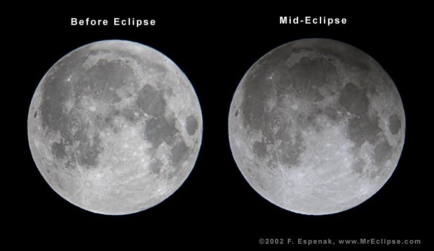Gerhana Bulan Penumbra diabadikan oleh Fred Espenak pada tahun 2002.