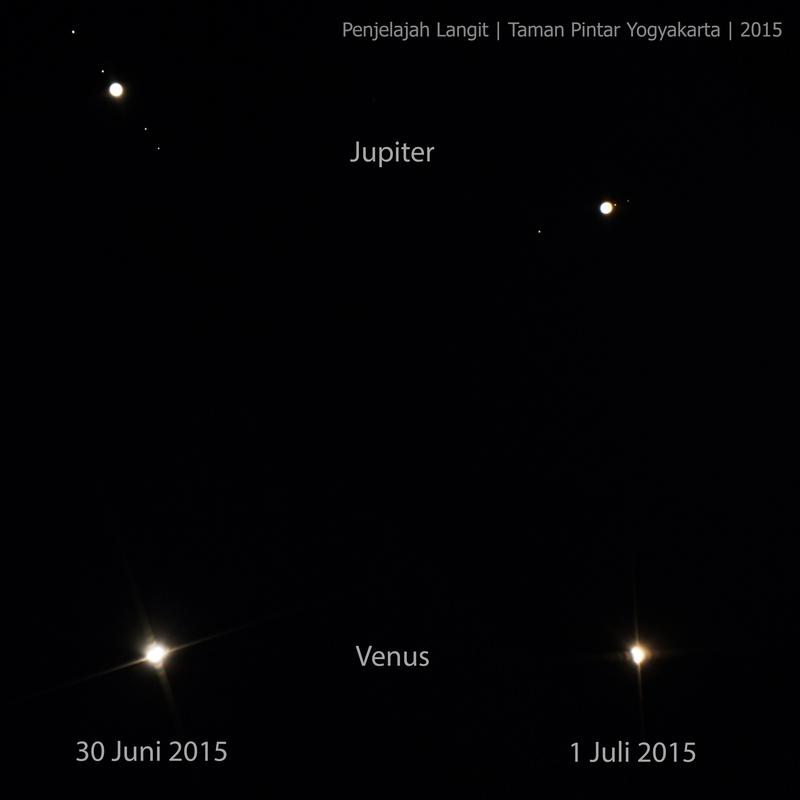 Konjungsi Venus jupiter pada tahun 2015
