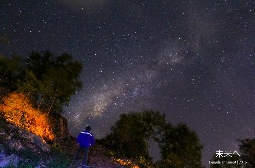 Galaksi Bimasakti selepas pukul 21.00 WIB