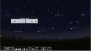 Radiant atau sumber semu hujan meteor rasi bintang Auriga.
