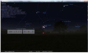 Ilustrasi konjungsi Bulan-Venus dengan Stellarium 0.11.00