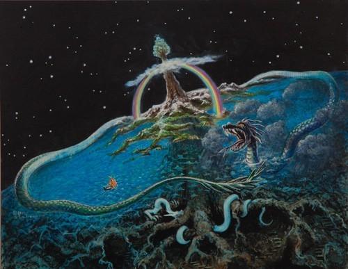 Gambar 1: Ular Raksasa yang disebut sebagai Jormungadr
