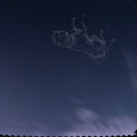 Canis Mayor di atas atap Observatorium JAC